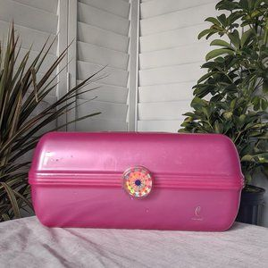Vtg Late 90s Bright Pink Caboodle Makeup Storage